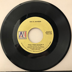 DEE D. JACKSON:AUTOMATIC LOVER(RECORD SIDE-B)