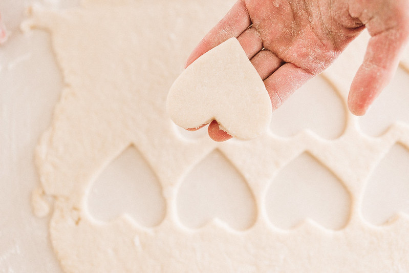 heart shaped vegan sugar cookies