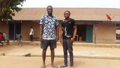 Nazir (left) and Usman both returned to Ghana from Libya in 2011. Credit: Kwaku Botwe/IPS