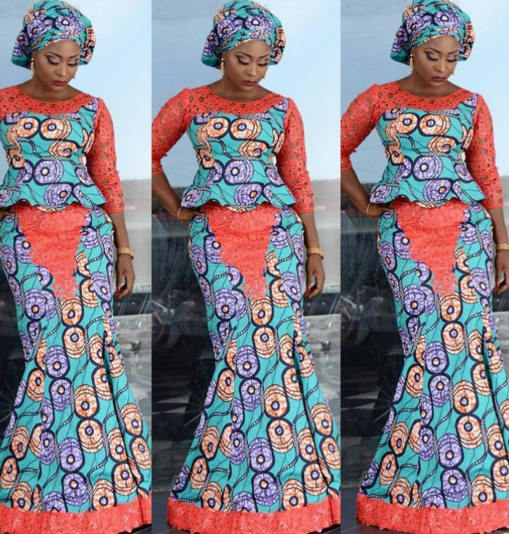 Stylish Mishono ya Vitenge \u0026 Lace African Style 2018 , Fashionre
