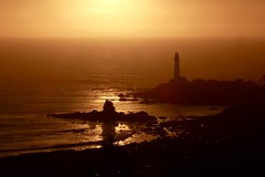 Setting sun at Pigeon Point