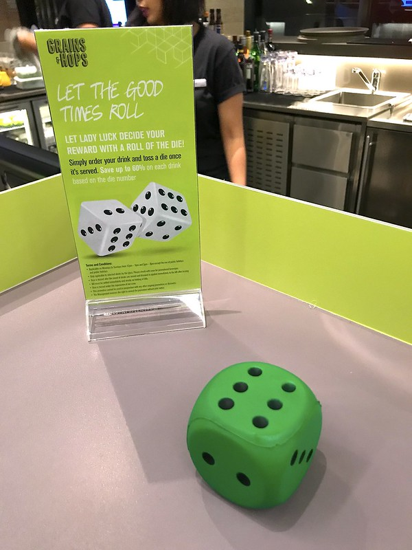 Roll your dice and win a discount on drinks!