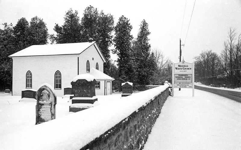 Mellvile Church Under Snow