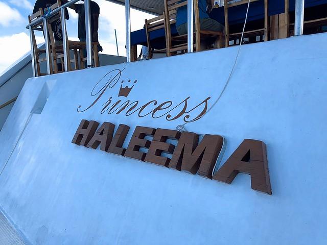 今回お世話になった母船は「Princess HALEEMA」号です♪