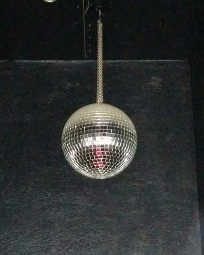 Disco ball in the corner #toronto #churchstreet #discoball #glitter