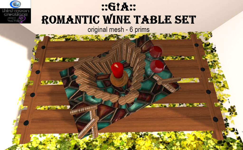 Romantic wine table set vendor