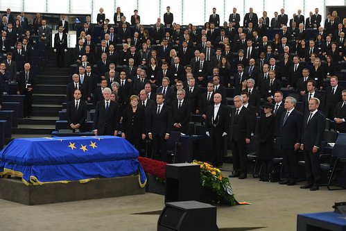 President Tusk attends the European Ceremony of Honour for the former German Chancellor Helmut Kohl