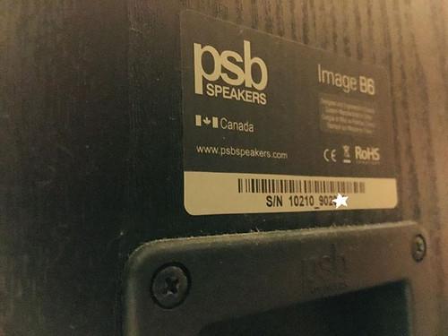 PSB Image B6, Alpha C1 & NAD T748 Amp 39771273991_76782fee49