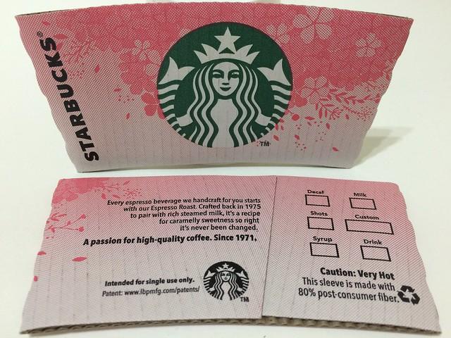 Starbucks Taiwan 星巴克 cherry blossom sleeve