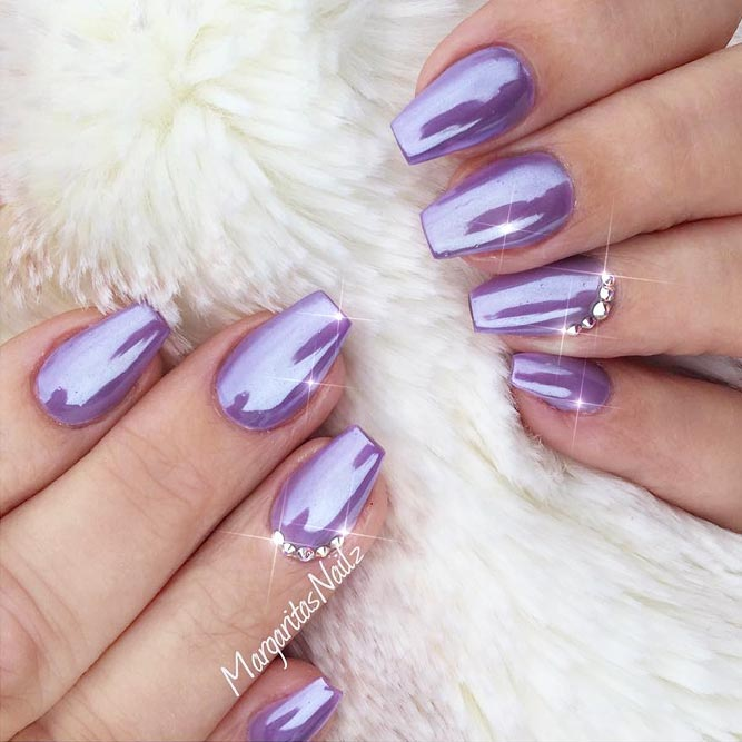 Lovely And Trendiest Purple Nails For Women Nails C