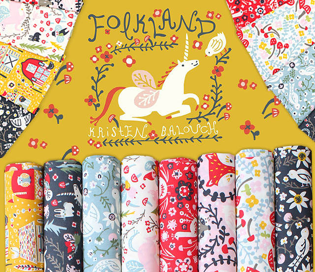 Birch Fabrics Folkland Collection by Kristen Balouch