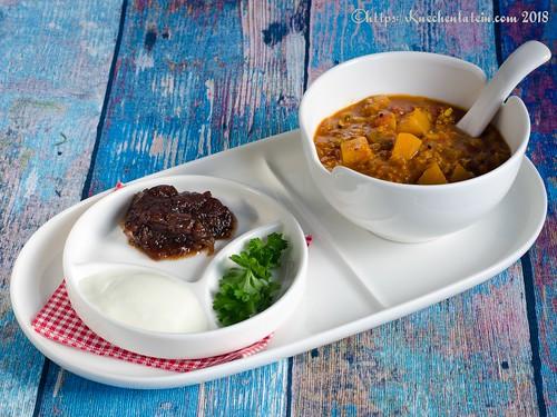 Butternut Mulligatawny - scharfe Suppe mit Birnenkürbis (1)