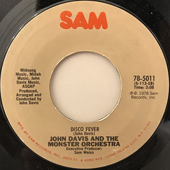 JOHN DAVIS AND THE MONSTER ORCHESTRA:AIN'T THAT ENOUGH FOR YOU(RE-MIX)(LABEL SIDE-B)