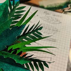Making a tiny paper jungle. #papercraft #art #design #learning