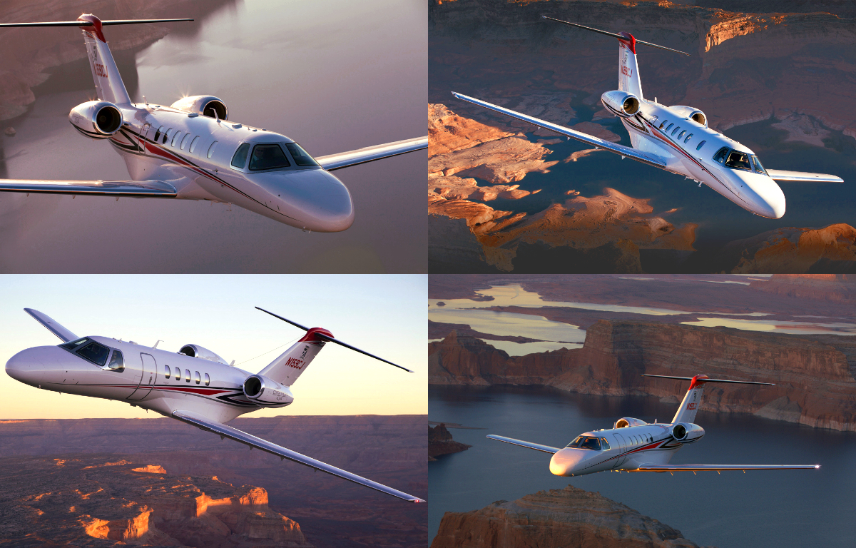 Citation CJ4 - collage