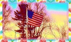 Day 44 of 365 (B)--Colorful Treatment of My Neighbors Flag--Cellphone Project 2018
