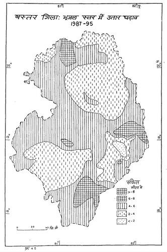 बस्तर जिला भूजल स्तर में उतार-चढ़ाव