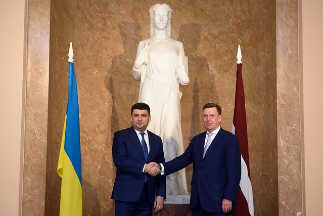 Ministru prezidents Māris Kučinskis tiekas ar Ukrainas premjerministru Volodimiru Groismanu