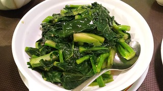 Greens in Ginger Sauce at Pu Kwong