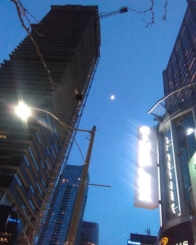 Moon south on Yonge