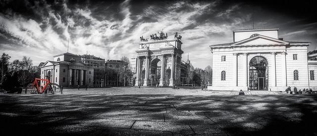 Porta Sempione in Black & White, Milano