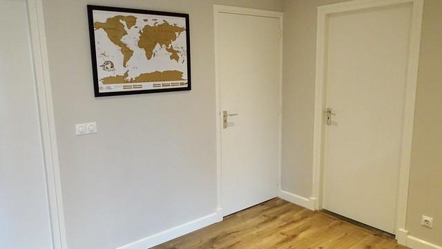 Wereldkaart muur overloop