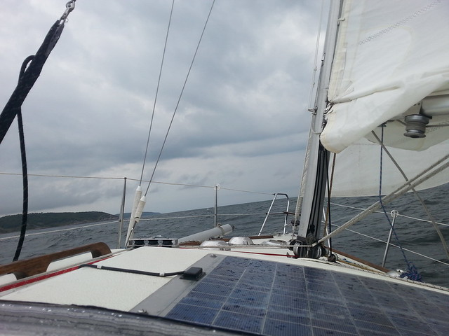 Approaching Bornholm at the start of a gale