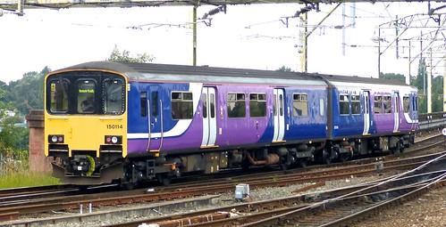 Class 150/1 'Northern Rail' No.150114. BREL York Sprinter DMU on Dennis Basford's railsroadsrunways.blogspot.co.uk'