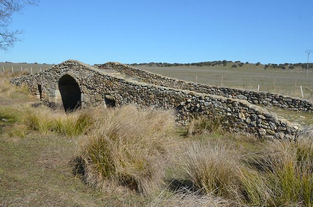 Roman Bridge of Santiago de Bencáliz along the Vía de la Plata (25 Roman miles from Emerita Augusta), Extramedura, Spain