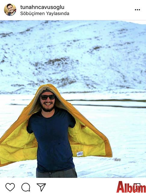 Tunahan Çavuşoğlu, Söbüçimen Yaylası'nda karın tadını çıkardı.
