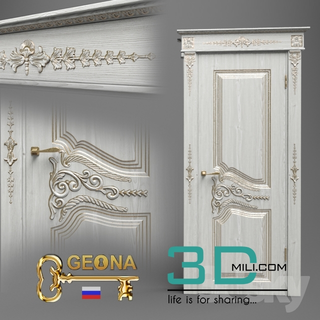 49  Door 3D model - 3D Mili - Download 3D Model - Free 3D