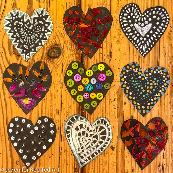 3D Heart Decorations - gorgeous Doodle Art Hearts. This is a great collaborative project for kids. Get stuck into the zen of doodle hearts and then turn them into these gorgeous 3d Hearts #valentines #3dhearts #decorations
