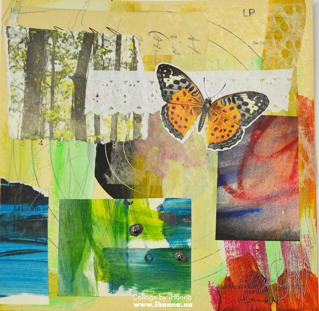 Butterfly Collage Week: 365 Collages in 2018 Week 3 Butterfly flight by iHanna #365somethings2018 #collage #art