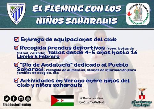 Campaña C.D. Doctor Fleming de ayuda al pueblo saharaui