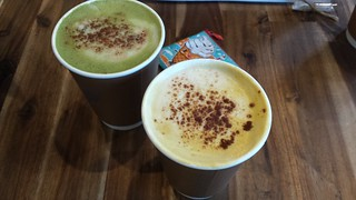 Matcha and Turmeric Lattes and Charlie's