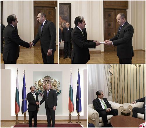 El Embajador David Nájera entrega sus Cartas Credenciales al Presidente de Bulgaria, Rumen Radev