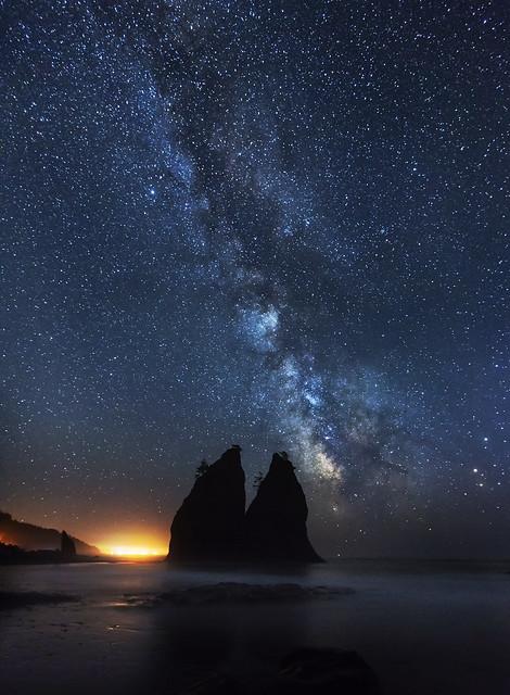 Milky Way over the Ocean (Realto Beach, Olympic Peninsula, WA).
