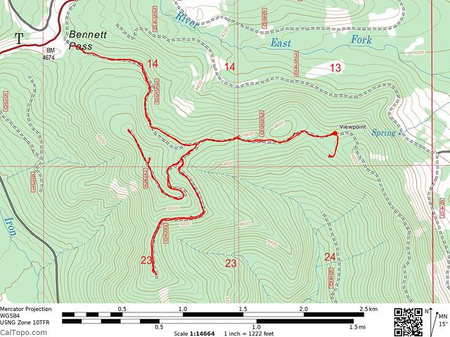 Bennett Pass Track