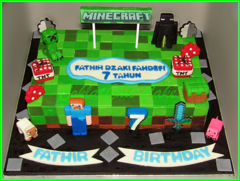 Cake Minecraft FATIR 18x27cm