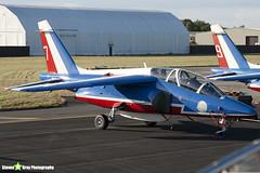 E46 7 F-UHRF - E46 - Patrouille de France - French Air Force - Dassault-Dornier Alpha Jet E - RIAT 2010 Fairford - Steven Gray - IMG_7358