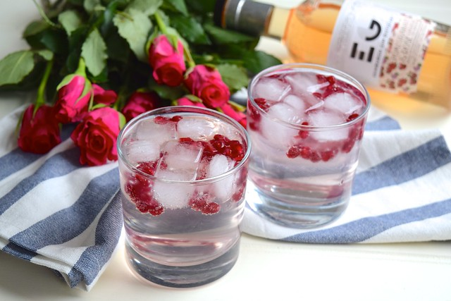 Rose and Pomegranate G&T's #ginandtonic #rose #pomegranate #gin #valentinesday
