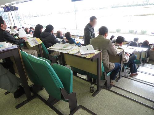 金沢競馬場の特別観覧席の座席