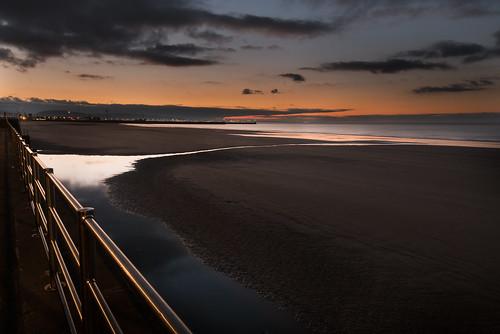 dawn wales sand sunrise sea swansea swanseabay