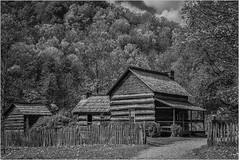 Smokey Mountain Homestaed By Ron Szymczak AW & POM Monochrome  Prints Feb. 2018