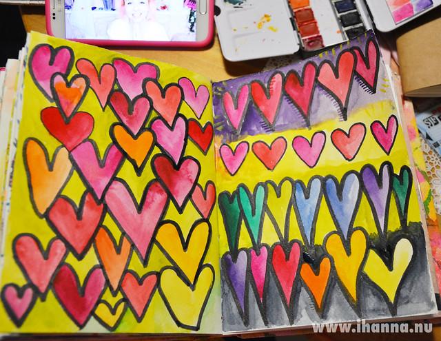 A lovefest in my Art Journal by iHanna #studioihanna