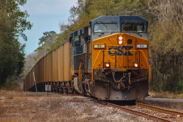 CSX T802 at Brooksville, FL 2-9-18