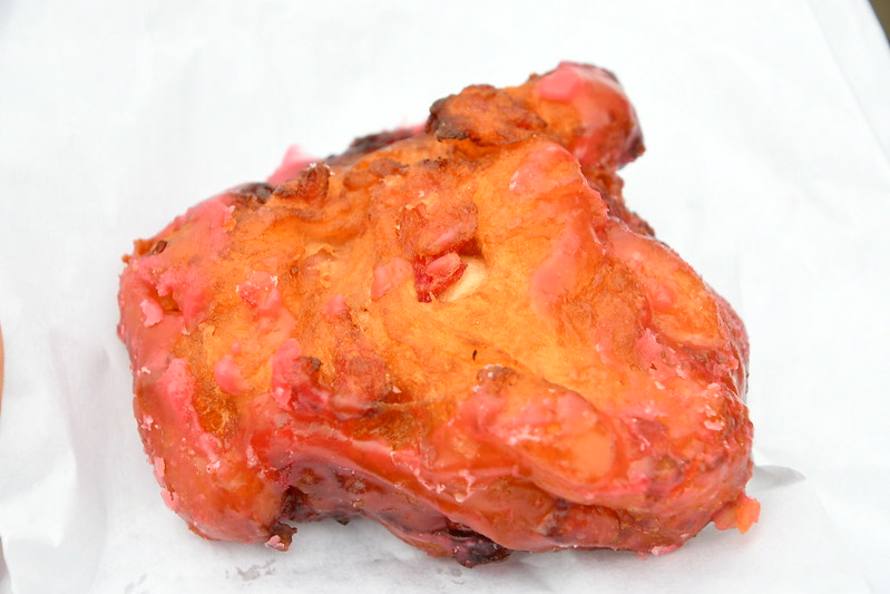 While this photo looks more like cherry-smeared fried chicken, the Cherry Thing-A-Ling is actually a deep fried cherry-filled fritter.