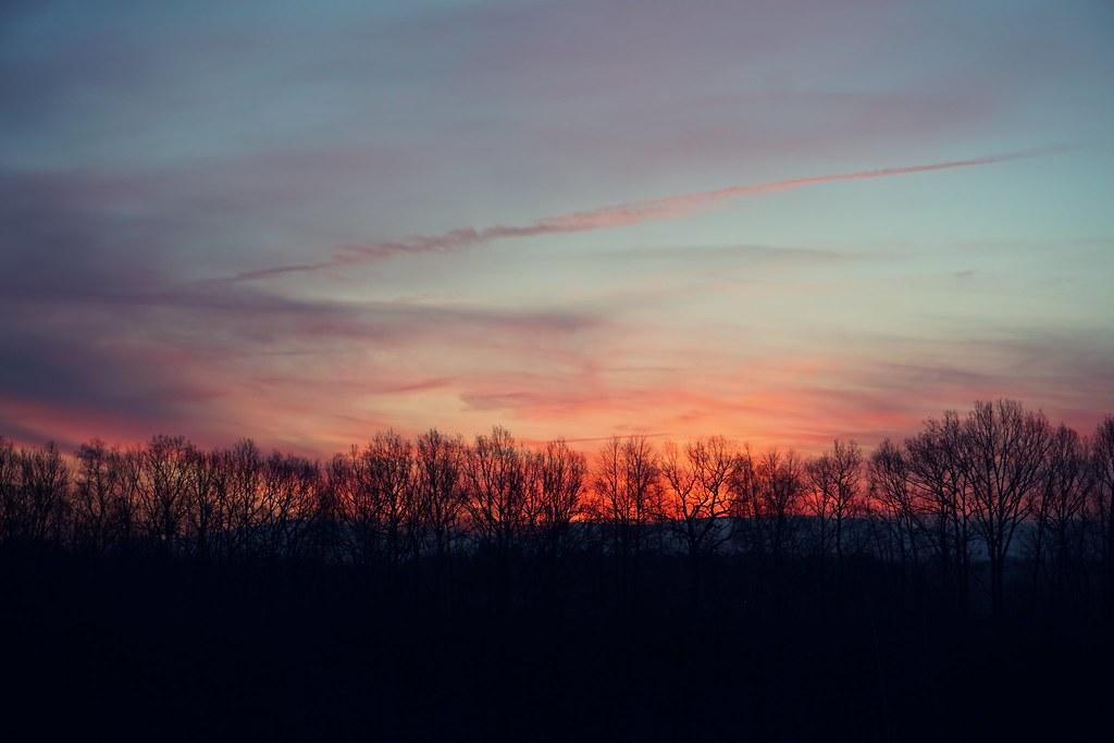 le matin de février