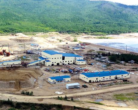 Бараки золотодобывающей фабрики