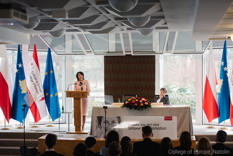 Natolin European Forum: High-level lecture by former President of Kosovo Ms Atifete JAHJAGA. 28 February 2018